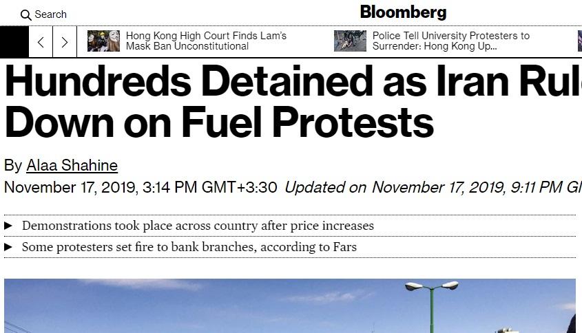 رسانههای جهان در مورد گرانی بنزین ایران چه نوشتند؟